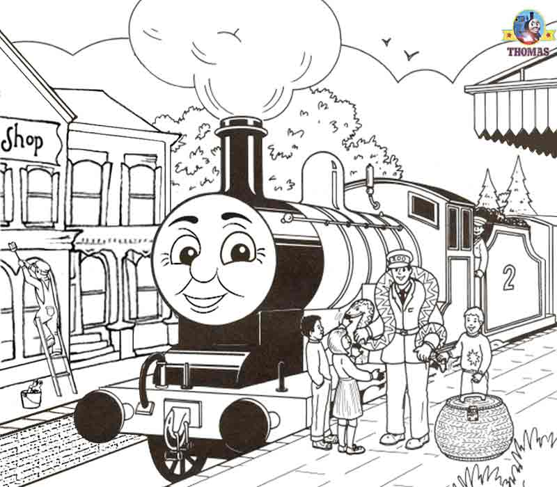 Thomas The Train Coloring Pages For Toddlers Coloring Coloring Pages