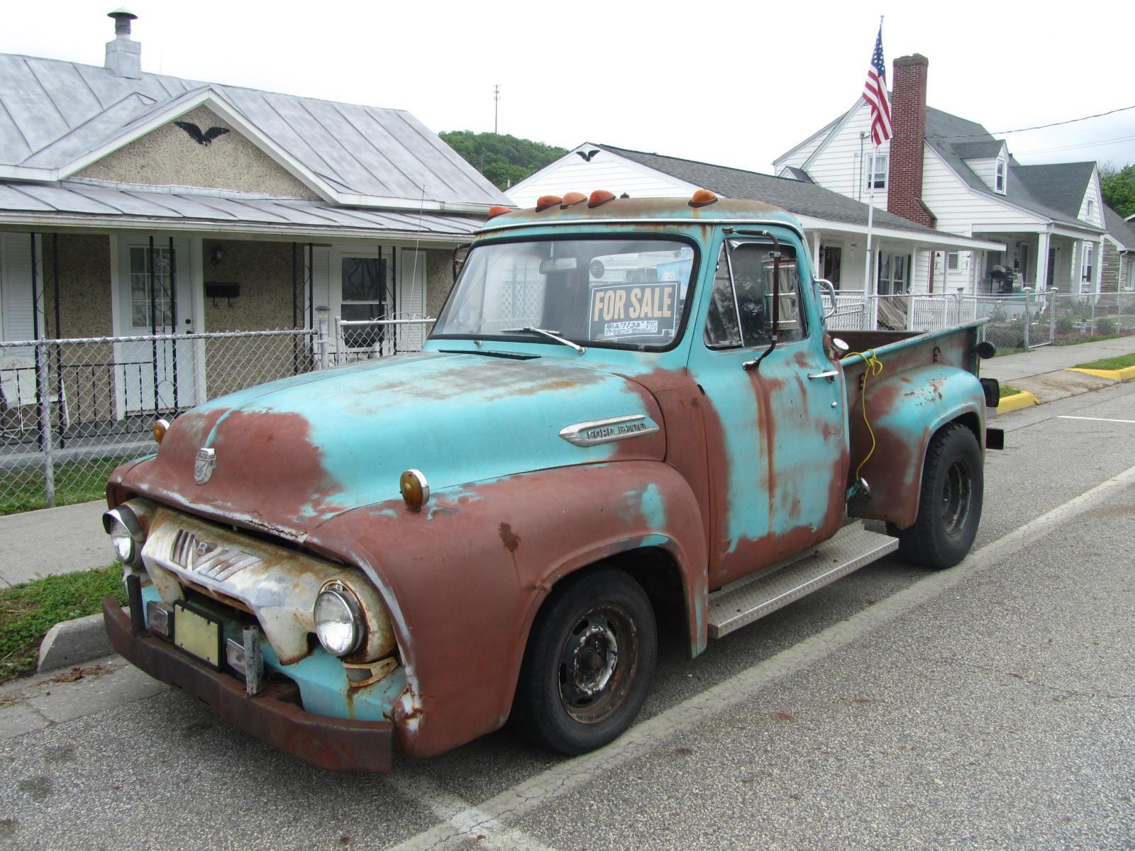 Autoliterate 1954 Ford F100 In The Blue Ridge 4x4