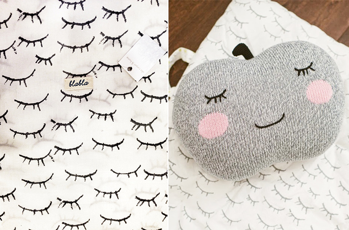 bla la kids apple pillow and eye bedding