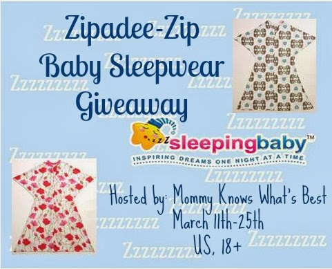 Zipadee-Zip from Sleeping Baby Giveaway 3/11-3/25 (Mommy Knows What's Best)
