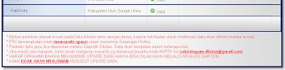 Status valid atau tidak valid data guru di Dapodik dan P2TK Dikdas