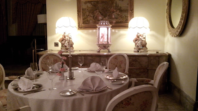 manila hotel, inside champagne room, wines, pretty decor,