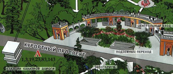 вход в Парк Дендрарий, карта