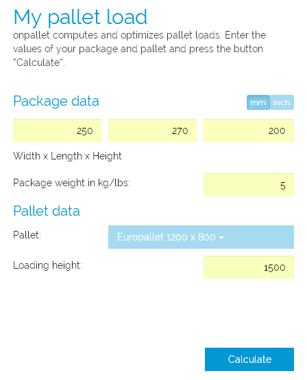 Calculating Pallet Loads Online Free of Charge | AdvancedonTrade ...