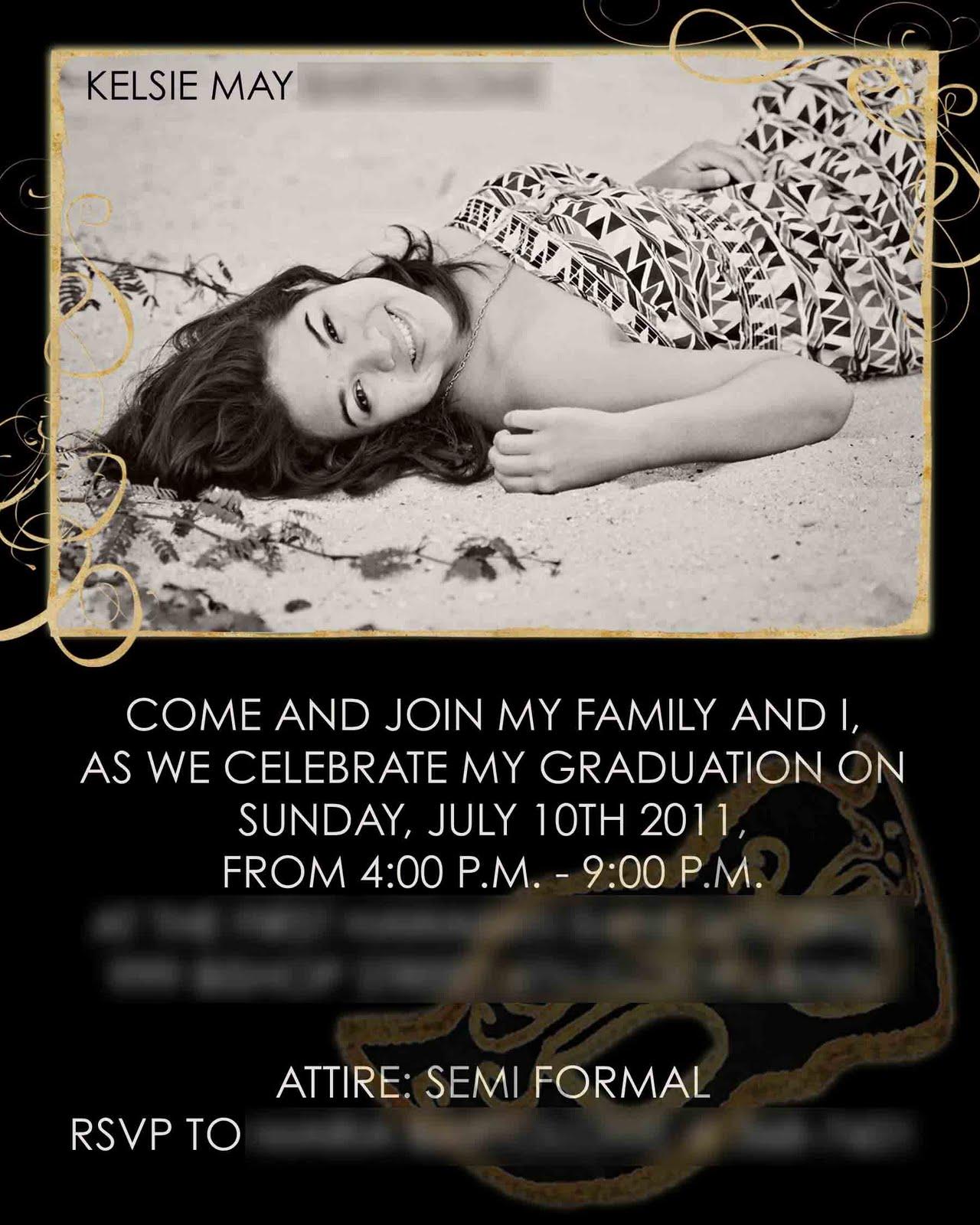Paixão Designs: Graduation Party Invitation