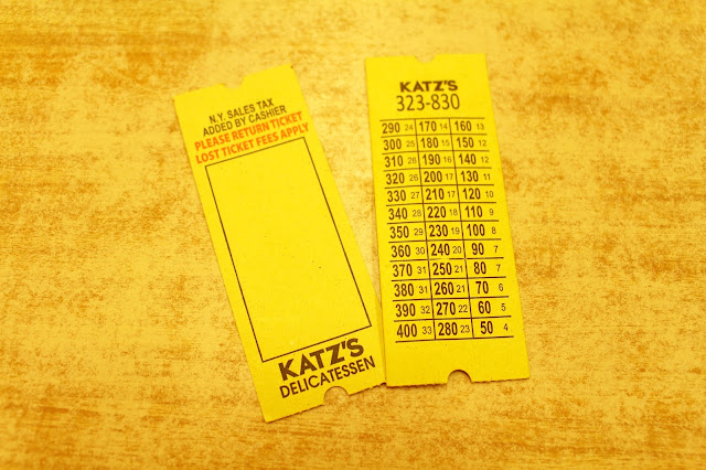 Katz's Delicatessen, Manhattan, New York ticket