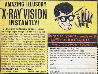 Comic book ad for X-Ray vision glasses