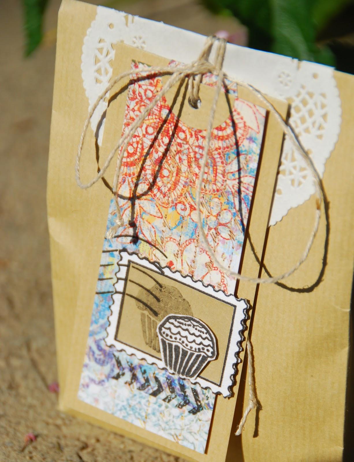 Подарочный пакет скрапбукинг