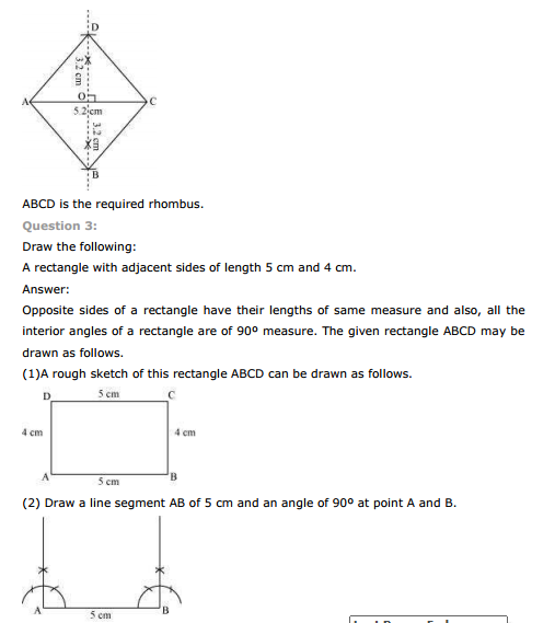 ncert text book solutions ncert solutions for class 8th maths chapter 4 practical geometry