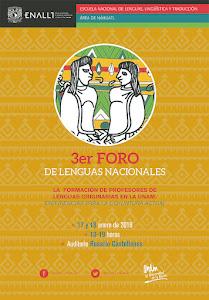 3er Foro de Lenguas Nacionales