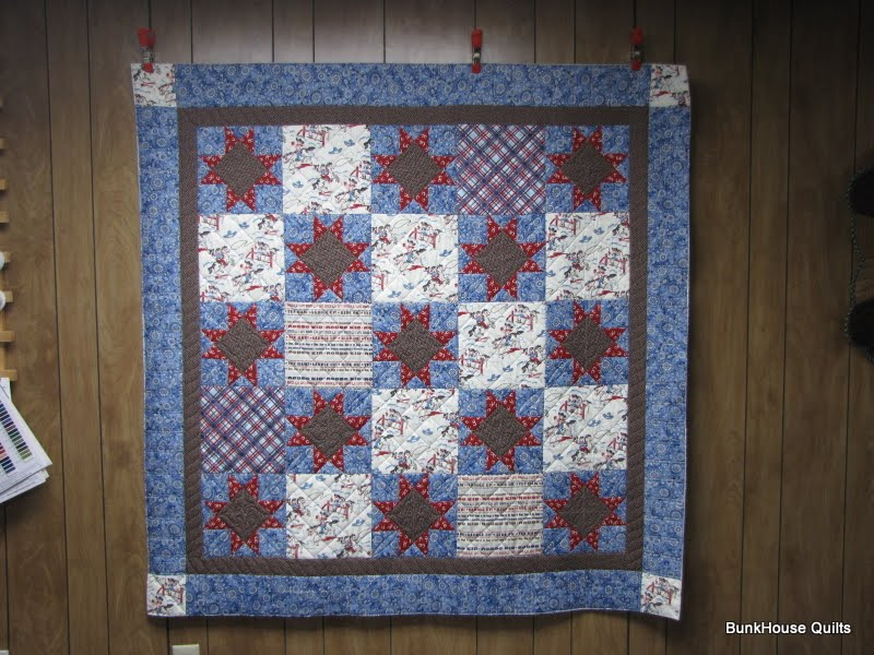 Quilting In The Bunkhouse Baby Boy Western Quilt