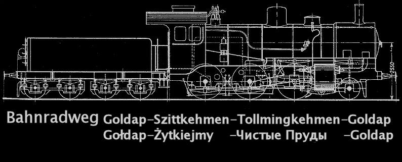 Kreisbahn Gołdap (Goldap) ●●●● Żytkiejmy (Szittkehmen) ●●●●●●●        Чистые Пруды (Tollmingkehmen)