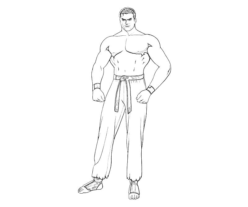 printable-king-of-fighters-takuma-sakazaki-character-coloring-pages