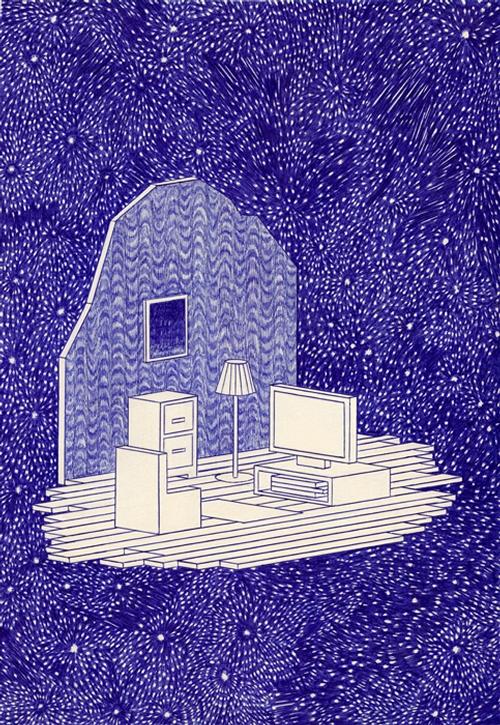 12-Le-Radeau-Kevin-Lucbert-Ballpoint-Biro-Pen-Drawings-www-designstack-co