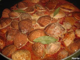 Almejas de concha fina