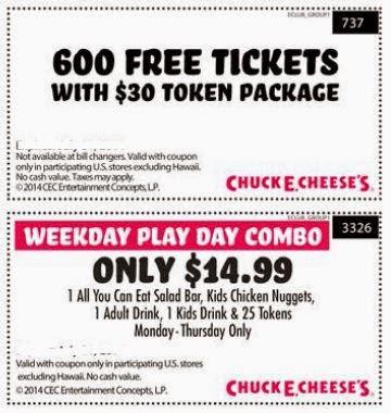 Chuck E Cheese Printable Coupons June 2015