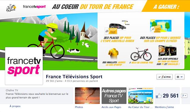 Page Facebook de France TV Sport
