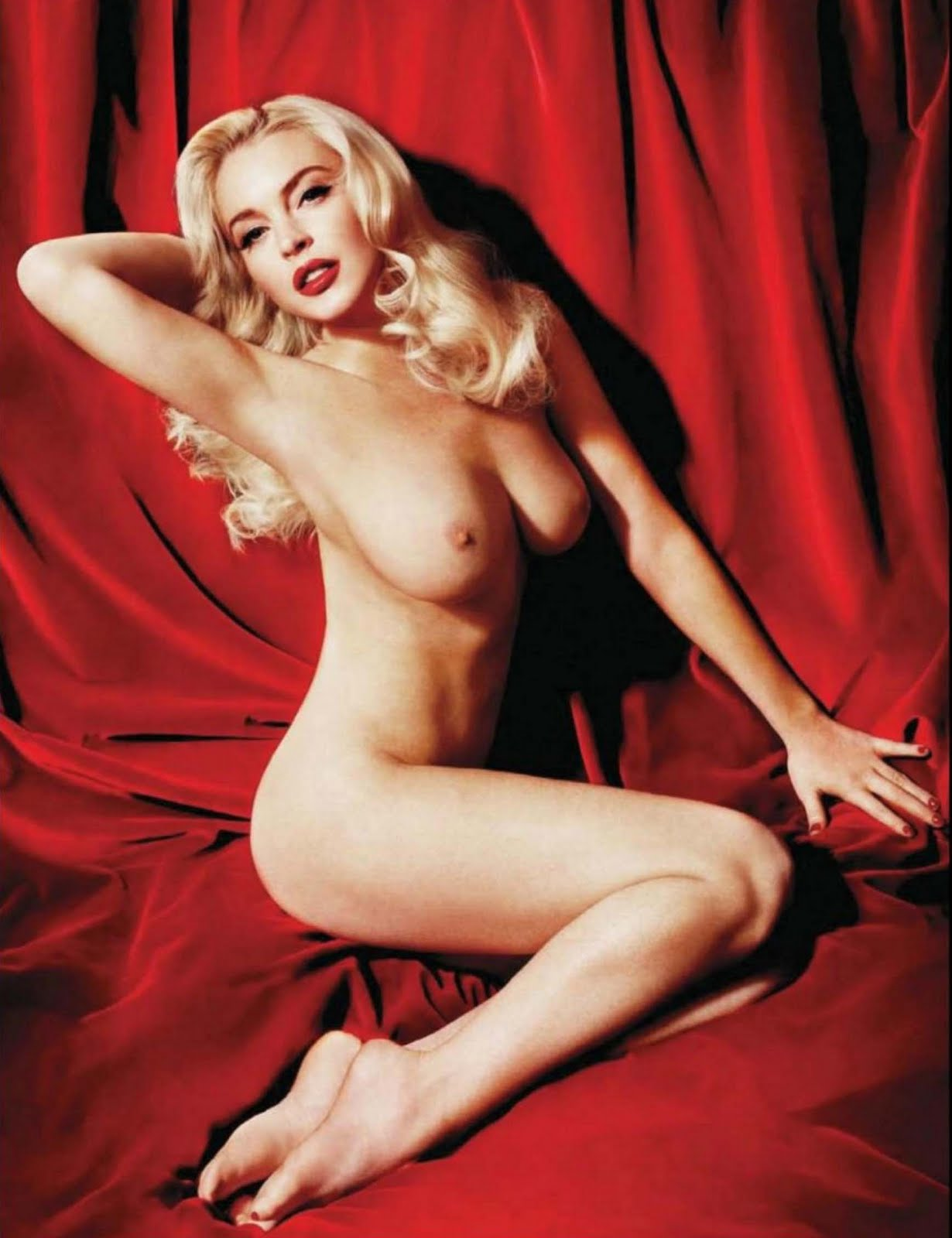 Lindsay lohan nude marilyn shoot