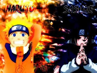 Wallpaper Naruto vs Sasuke keren untuk wallpaper
