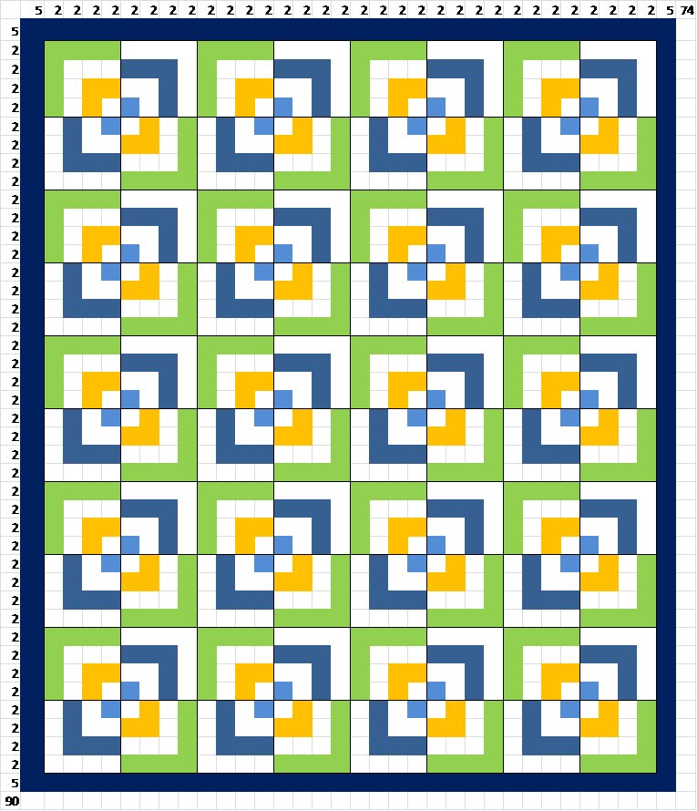 Sew Preeti Quilts Quilt Layout Half Log Cabin
