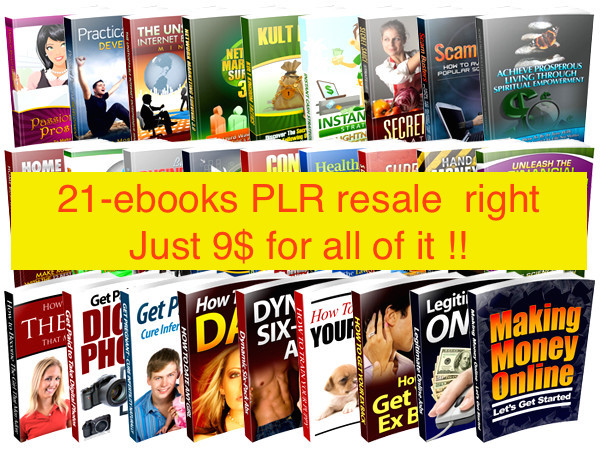 PLR ebooks resale right