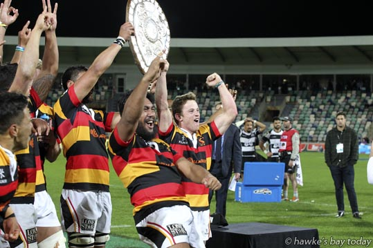 Waikato beat Hawke's Bay Magpies 36-30 to win the Ranfurly Shield - rugby at McLean Park, Napier. photograph
