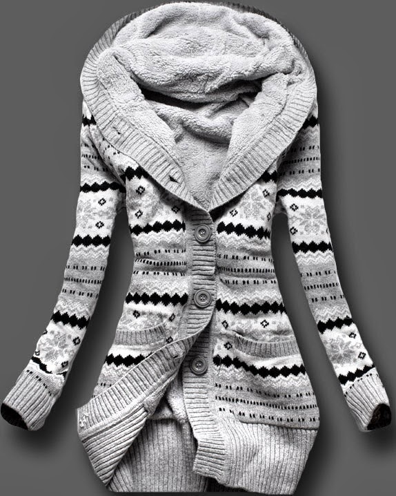 See more striped black white top sweater cardigan. Looks perfect for the fall