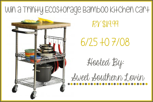 Trinity EcoStorage Bamboo Kitchen Cart Giveaway