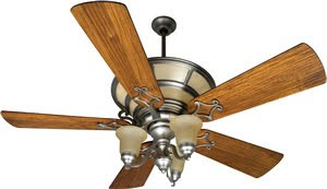 Craftmade HA52BN Hathaway 52 Inch Ceiling Fan With Integrated 6 Light Fixture Kit Brushed Nickel