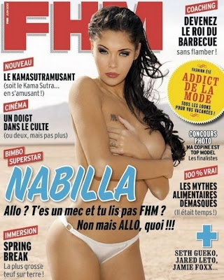 Topless Nabilla  sur FHM (PHOTO)