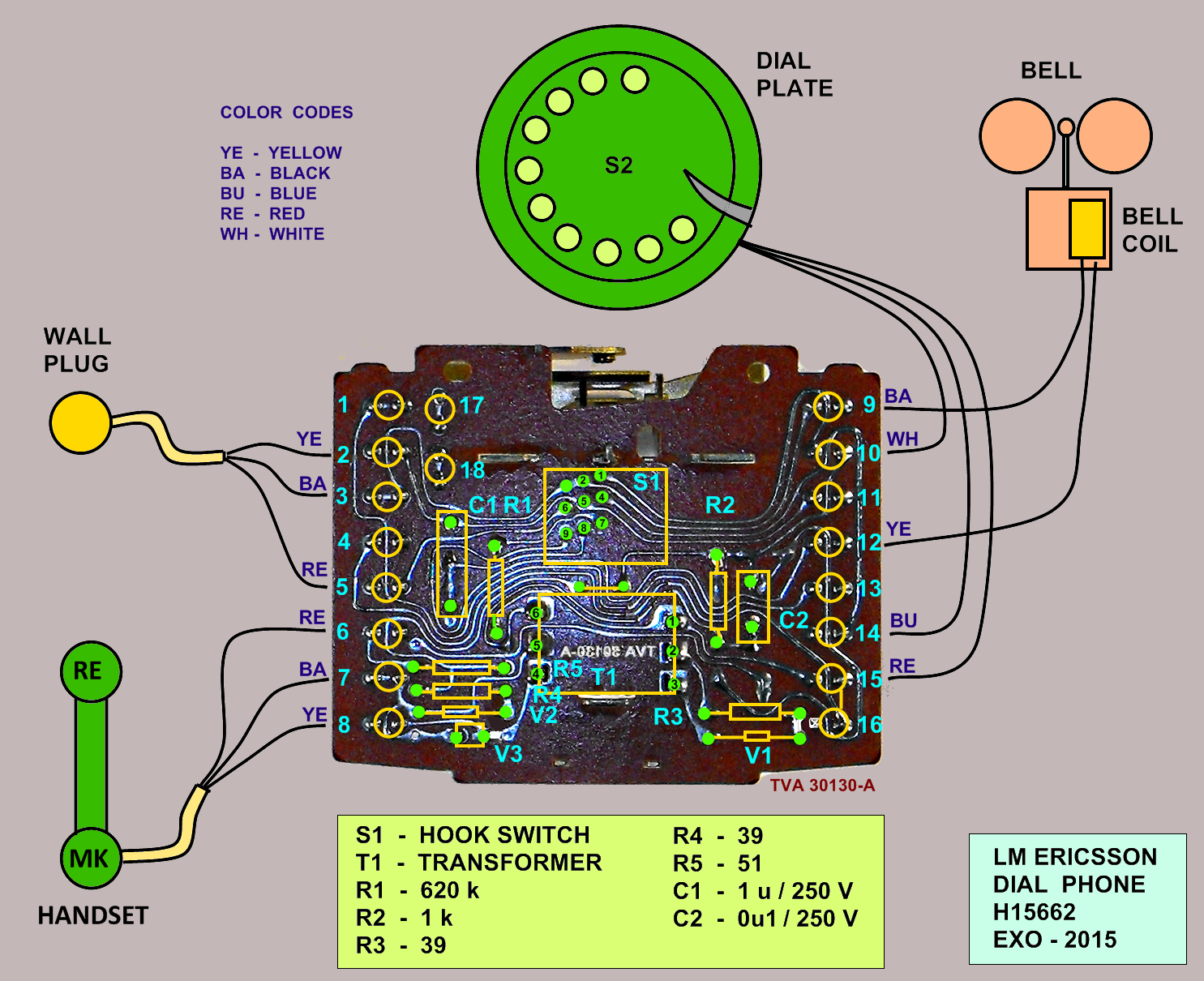 exo cruiser: how a dial phone works (2/2) rotary phone wiring diagram  exo cruiser