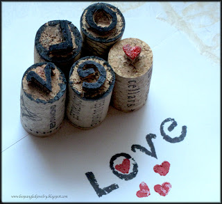 Upcycled wine corks handcarved stamps by Bespangled Jewelry