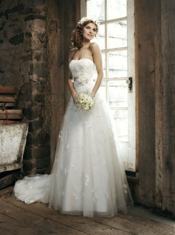 Wedding Dresses with Floral Accents