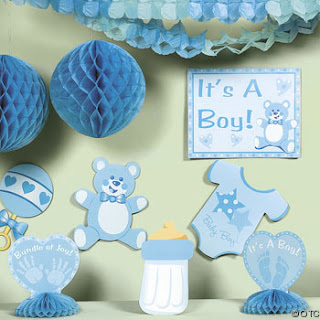 Ideas para tus fiestas tematicas baby shower - Adornos baby shower nino ...