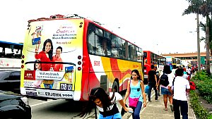 Bus Stop for buses going to NAIA 1&2 from South West Integrated Coastal Mall