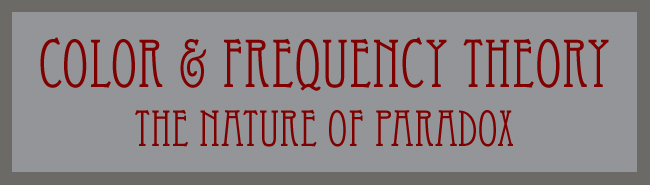 Color & Frequency Theory, The Nature of Paradox word banner