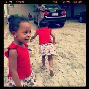 Singer, 9ice Shows Off His Twin Girls. [PHOTOS]
