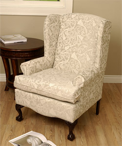 QUESTION: Recently I Purchased An Old Wingback Chair At A Local Antique  Shop. It Seems Very Old To Me Since It Has Ball And Claw Feet, Plus Itu0027s  Upholstery ...