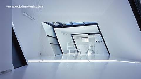Vista del interior en la estructura superior de la vivienda