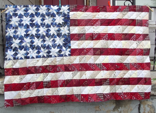 Mama s Got a Chainsaw: Flag Quilt & How-to Part 2