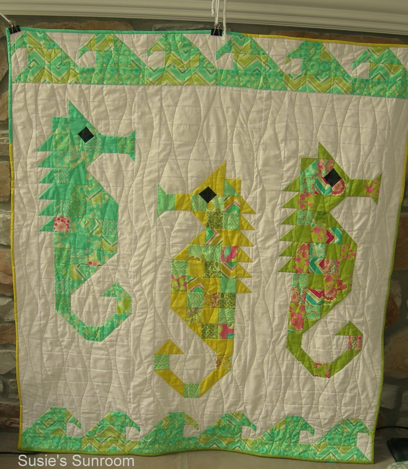 Susies Sunroom Watercolor Sea Horses
