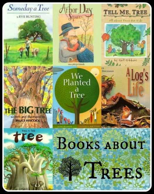 http://kidworldcitizen.org/2013/06/10/books-activities-about-trees-for-kids/