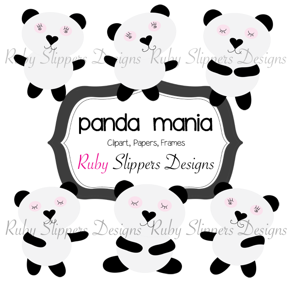 Ruby Slippers Blog Designs: Panda Clip Art $2.50