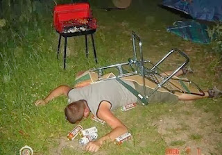 funny picture: drunk fell off the chair and sleeps