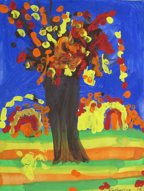 1st grade fall trees