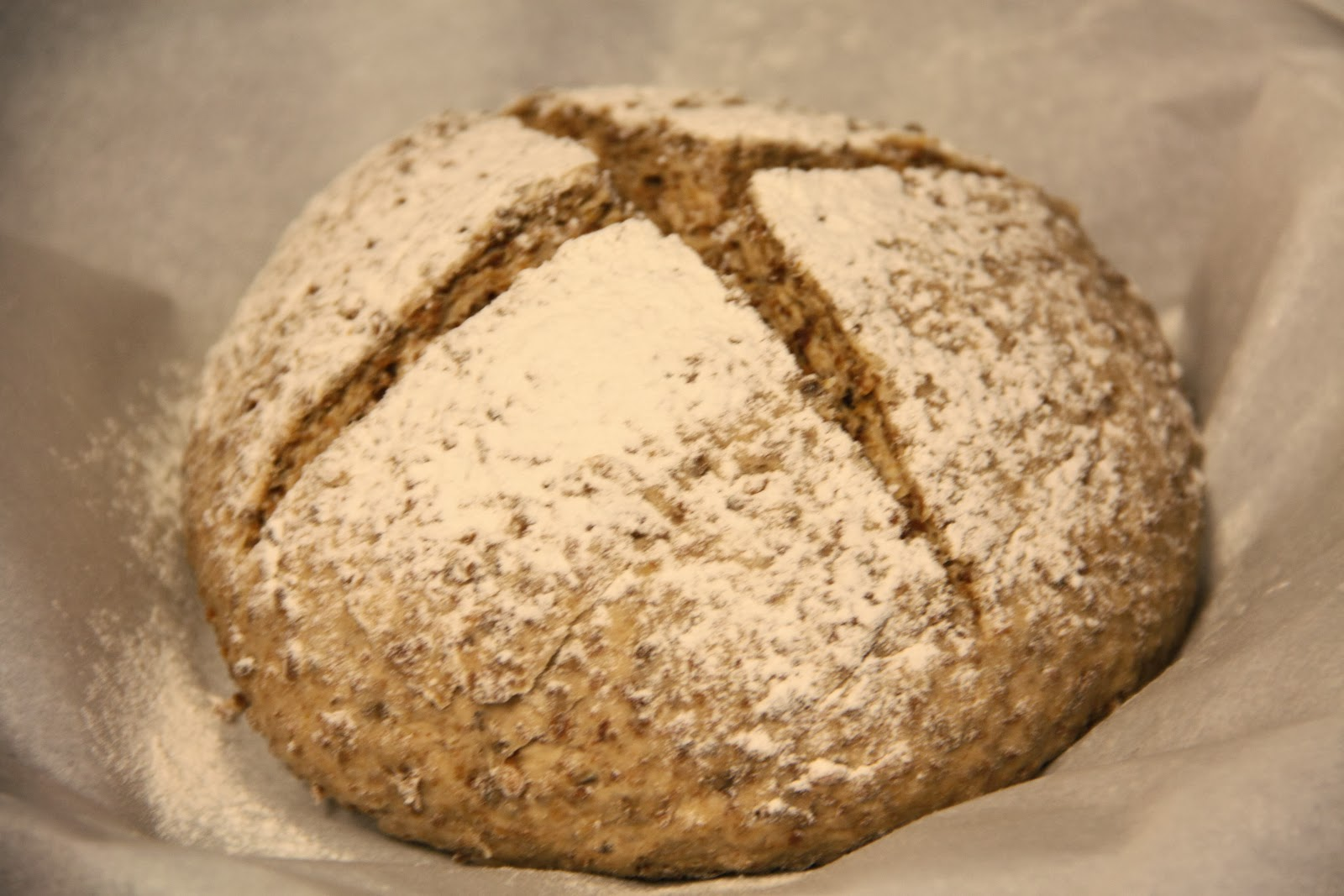 With A Little Honey It Makes For A Dense Whole Wheat Loaf No Knead Bread
