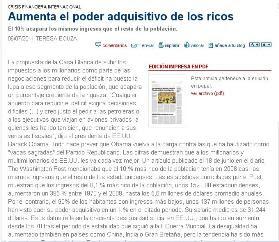 AUMENTA EL PODER ADQUISITIVO DE LOS RICOS.