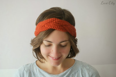 free crochet braided headband pattern