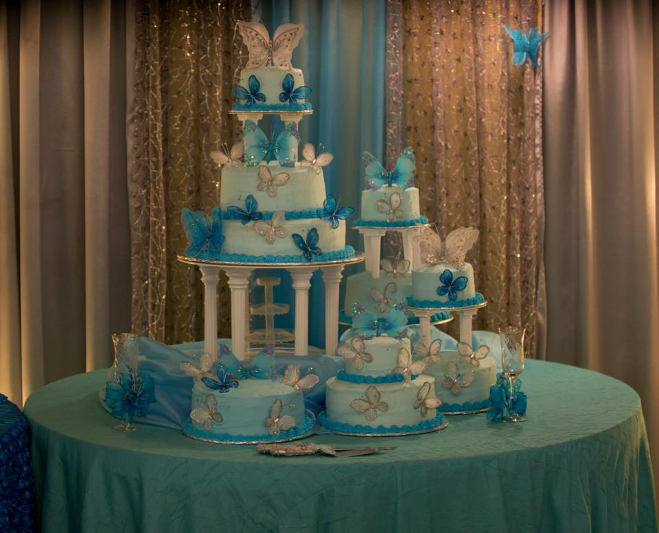 Turquoise Quinceanera Reception Decorations