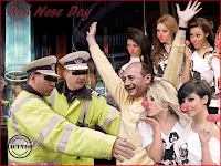 Funny photo Traian Basescu Red Nose Day